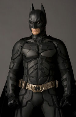Christian Bale Batman standing heroically