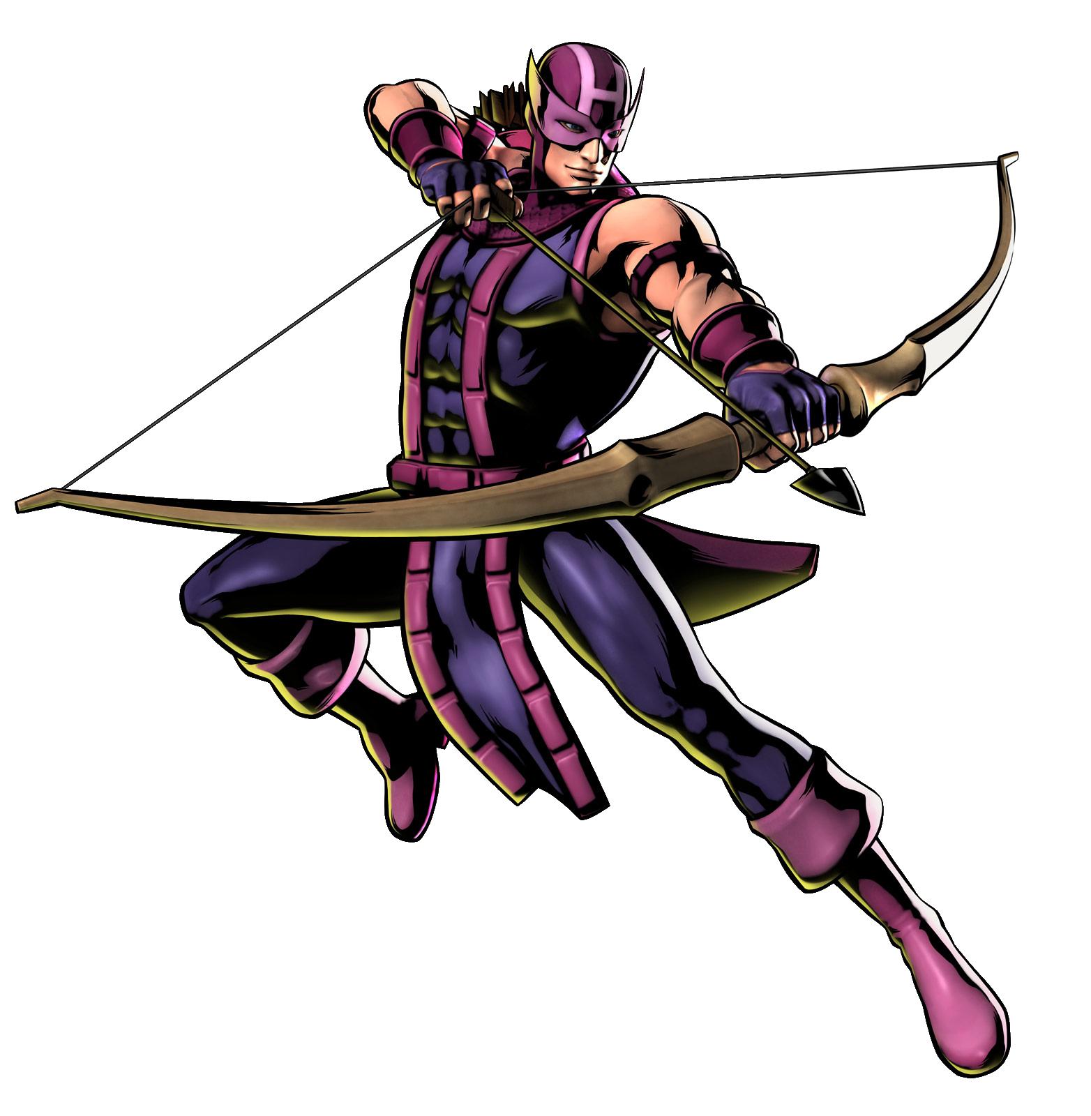 Drawing of classic Hawkeye