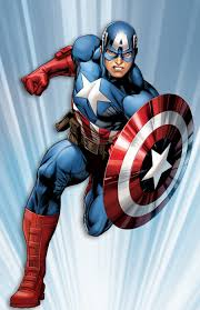 Drawing of classic Captain America